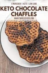 keto chocolate chaffle recipe