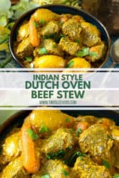 Dutch Oven Beef Stew Indian Style
