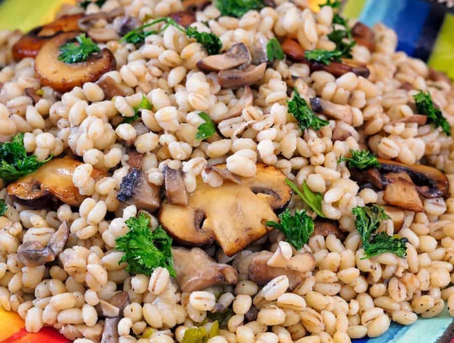 Barley Pilaf with Mushrooms