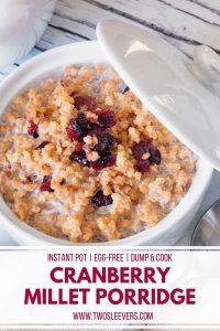 cranberry millet porridge