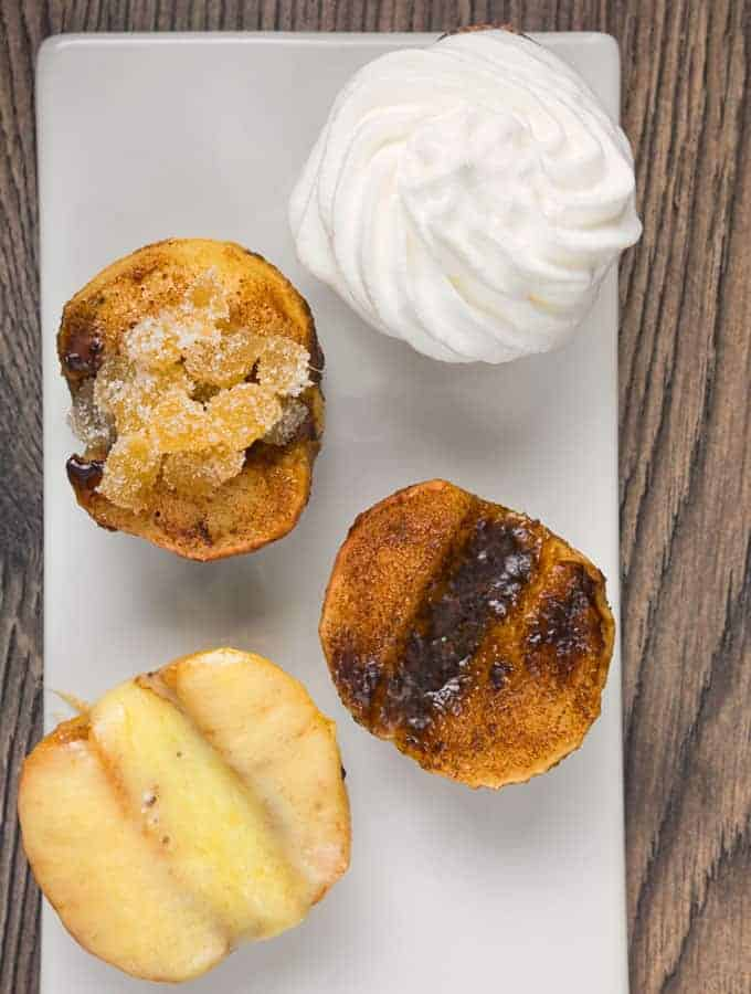 easy baked apples on a white plate