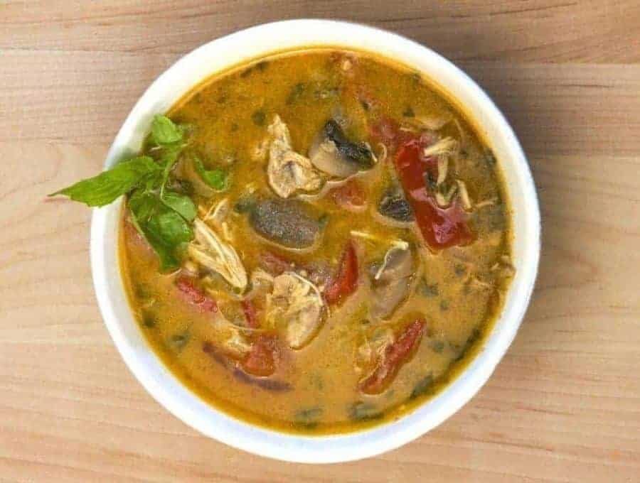 A bowl of Thai Curry Soup.