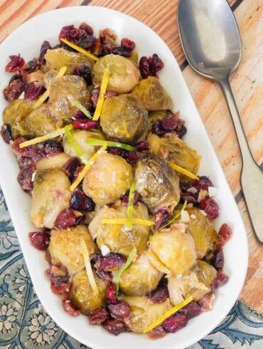 Cranberry Brussels Sprouts