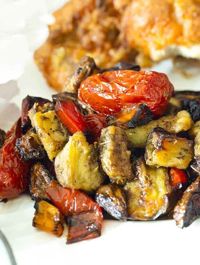 A plate of Roasted Ratatouille.