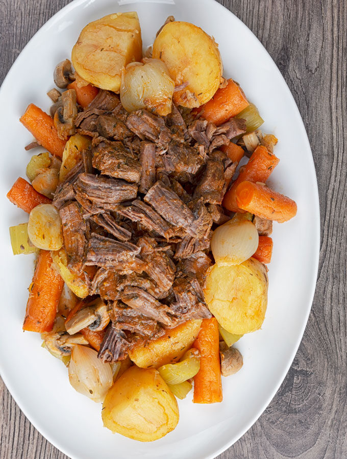 Instant Pot Pot Roast Tall Shot