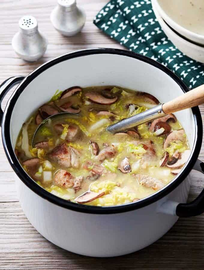 Pork Soup With Cabbage Featured Image