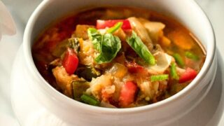 Tomato Eggplant Soup