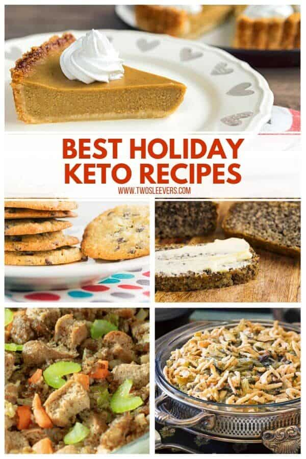 Different plates of food titled Best Holiday Keto Recipes.