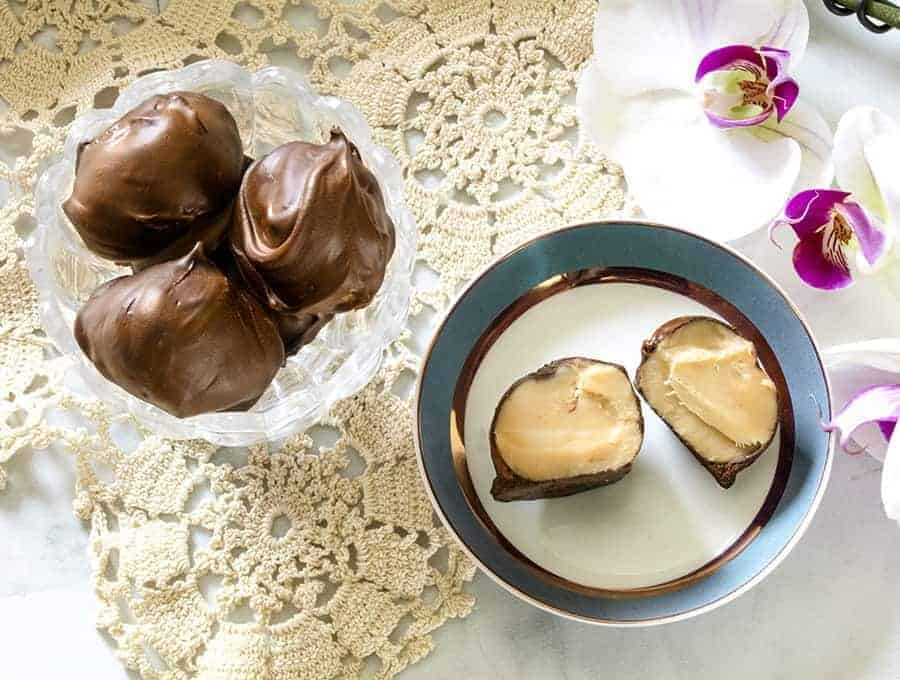 Two plates of Sweet Cream Truffles.