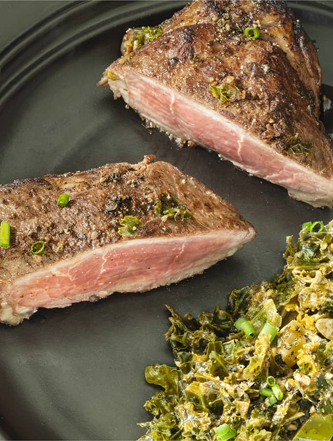Loin Lamb Chop Recipe With Harissa Sauce Tall Shot