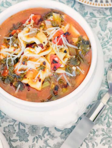 Tortellini Soup With Spinach Featured Image
