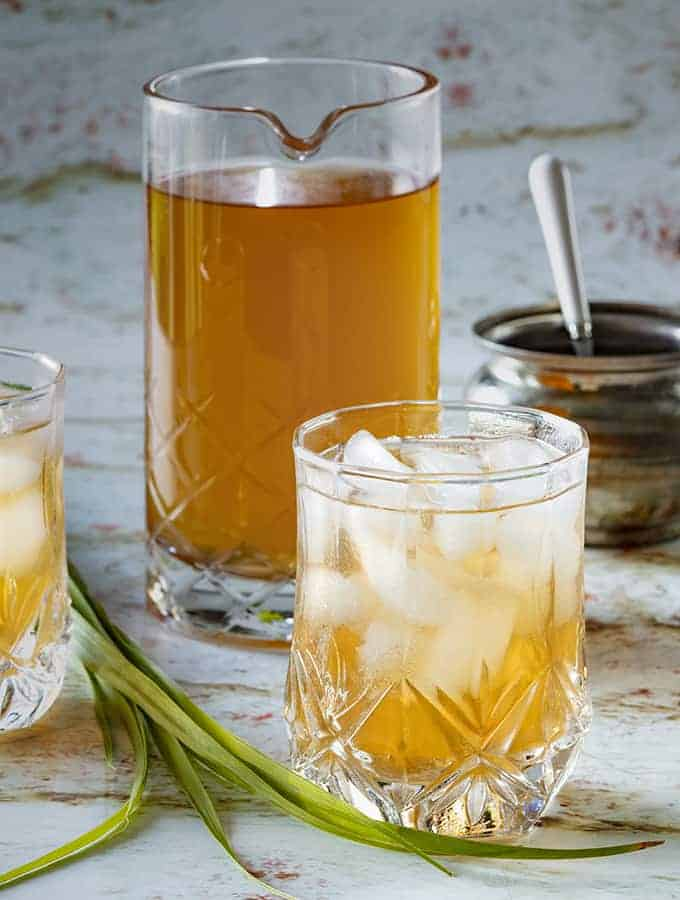 pitcher of lemongrass ginger tea