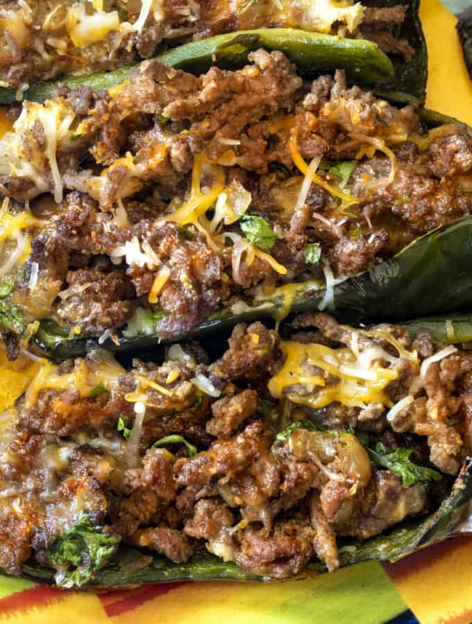 Stuffed Poblano Peppers Wide