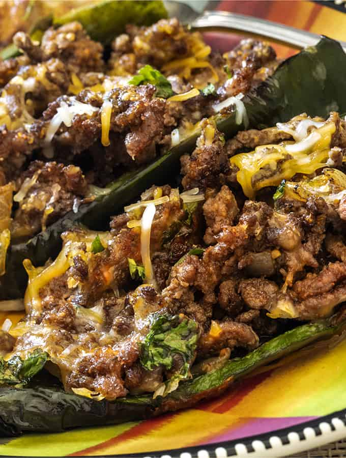 Stuffed Poblano Peppers Tall