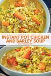 instant pot barley and chicken soup