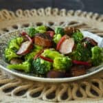 keto broccoli and sausage
