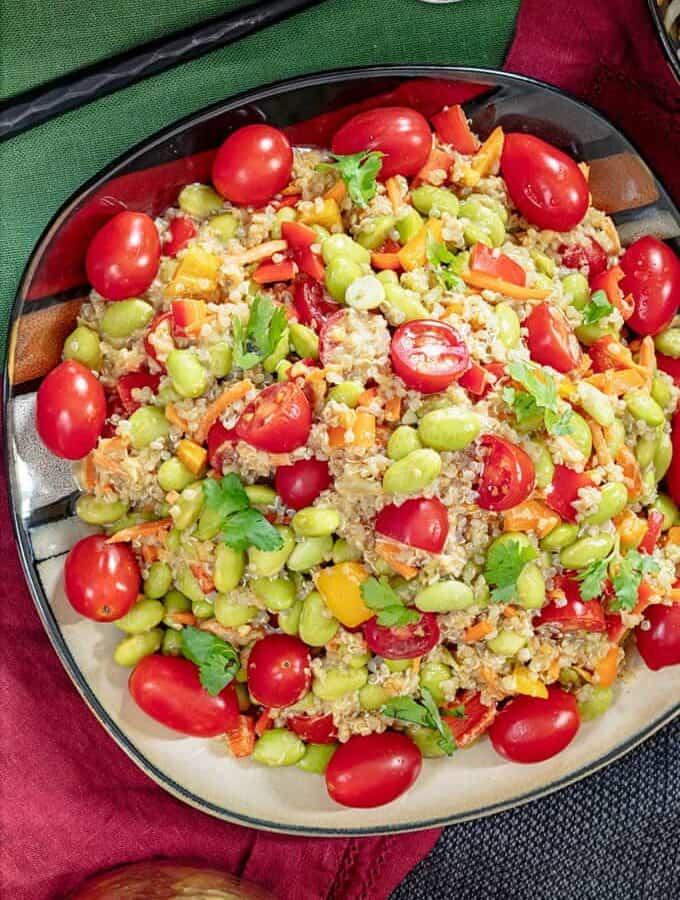 Edamame Salad With Quinoa Featured Image