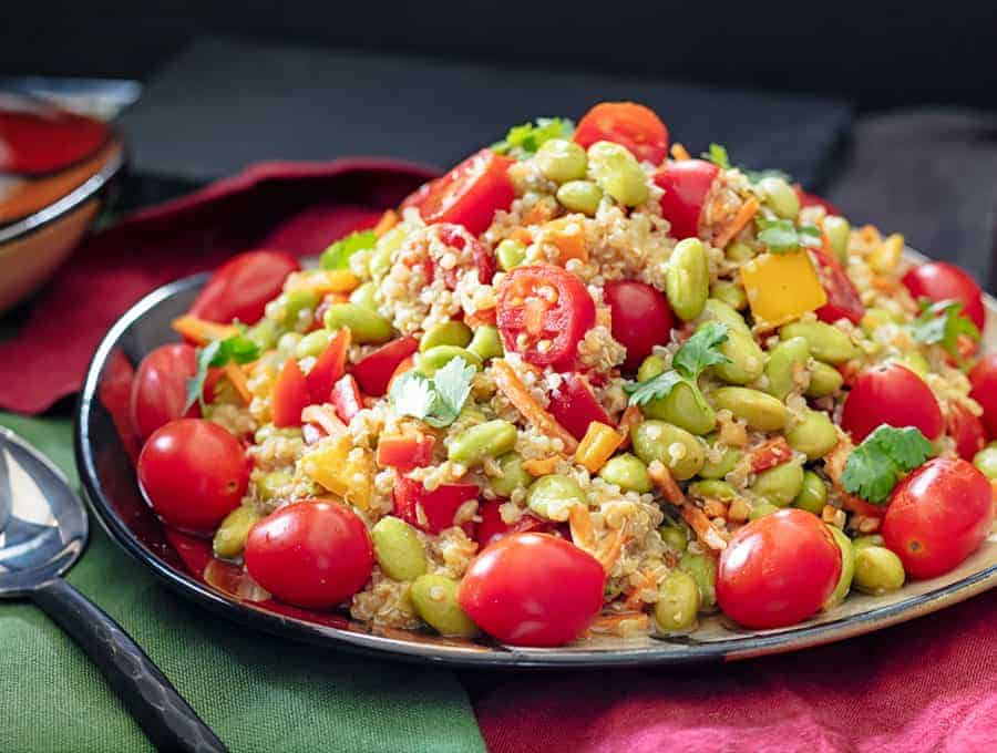 Edamame Salad With Quinoa Wide