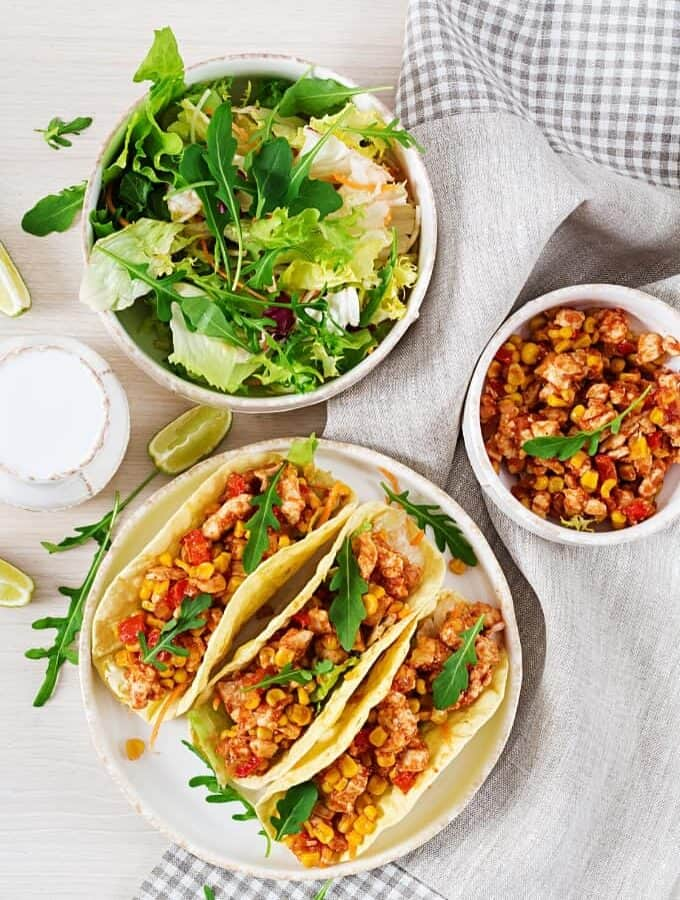Instant Pot Chicken Tacos Featured Image