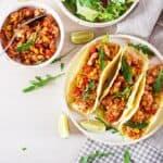 Instant Pot Chicken Tacos Wide