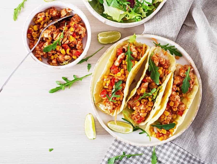 Instant Pot Chicken Tacos Wide