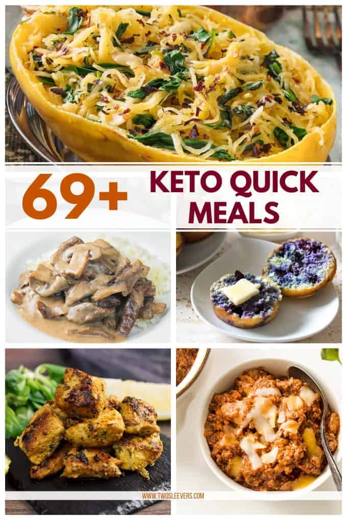 69 Keto Quick Meals Quick And Easy Low Carb Recipes