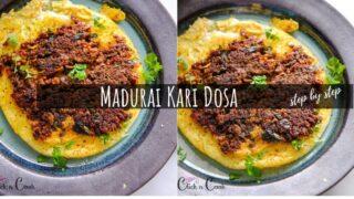 Madurai Mutton Keema Kari Dosa