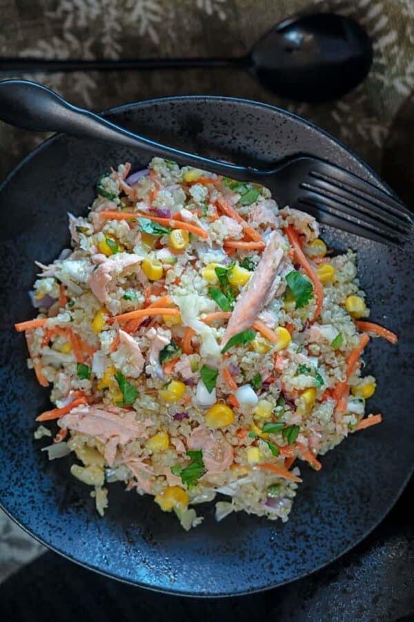 Quinoa Salad With Salmon