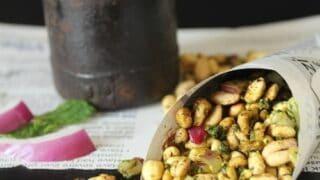 Sukha Bhel with Barley Puffs | No Oil Recipe