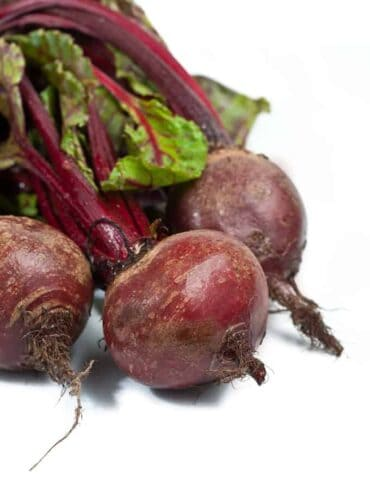 Beet root on white background