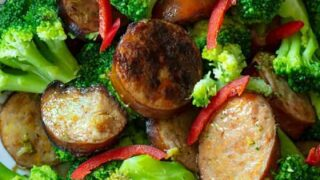 Keto Broccoli and Sausage |3-Ingredients