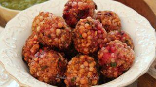 Sabudana Vada with Beetroot Recipe – Ebelskiver Pan Low Fat Version