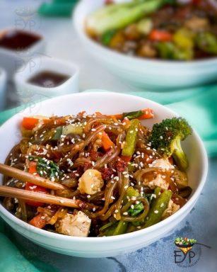 Japchae – Vegan & GF Korean Glass Noodles