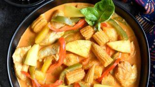 Mango Chicken Thai Curry in Instant Pot