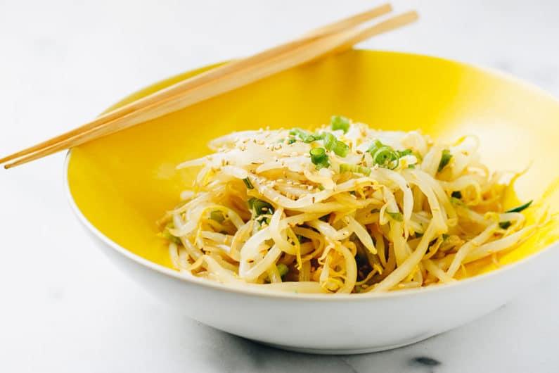 Mung Bean Sprouts Salad Recipe (Paleo, Whole30, Keto, Vegan)