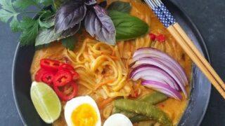 20-Minute One Pot Coconut Noodle Soup (Thai Style)
