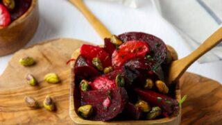Beet, Pistachio and Orange Salad