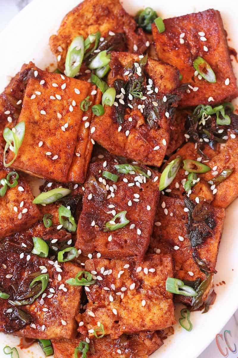 Korean Braised Tofu (Dubu Jorim)