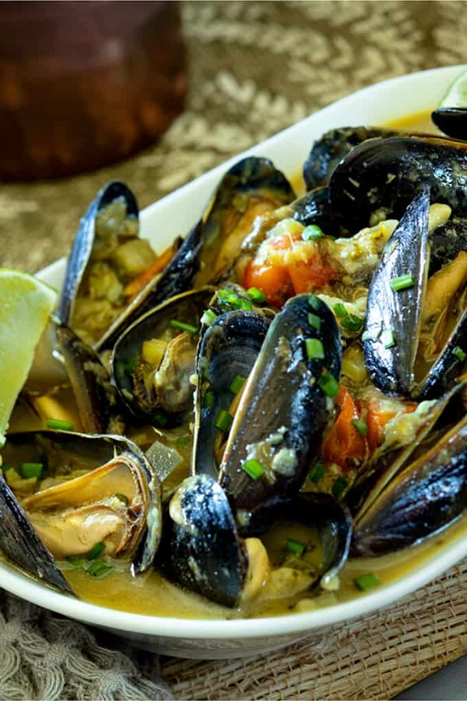 Thai Green Curry Mussels | Easy Seafood Dinner