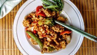 Thai Peanut Tempeh with Rice