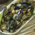 Thai Green Curry Mussels Recipe Wide
