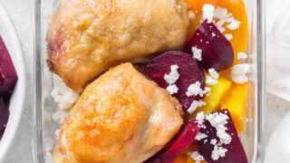 Couscous, Beets, and Chicken Meal Prep