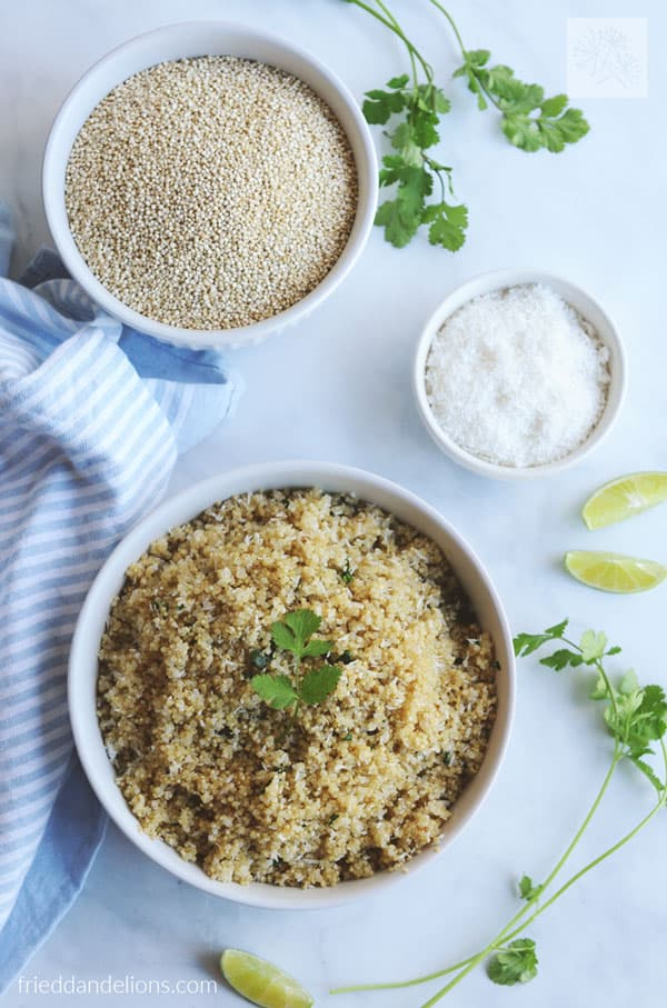 Instant Pot Quinoa with Coconut, Lime, and Cilantro