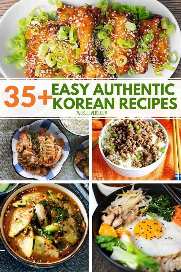 35+ easy authentic Korean recipes