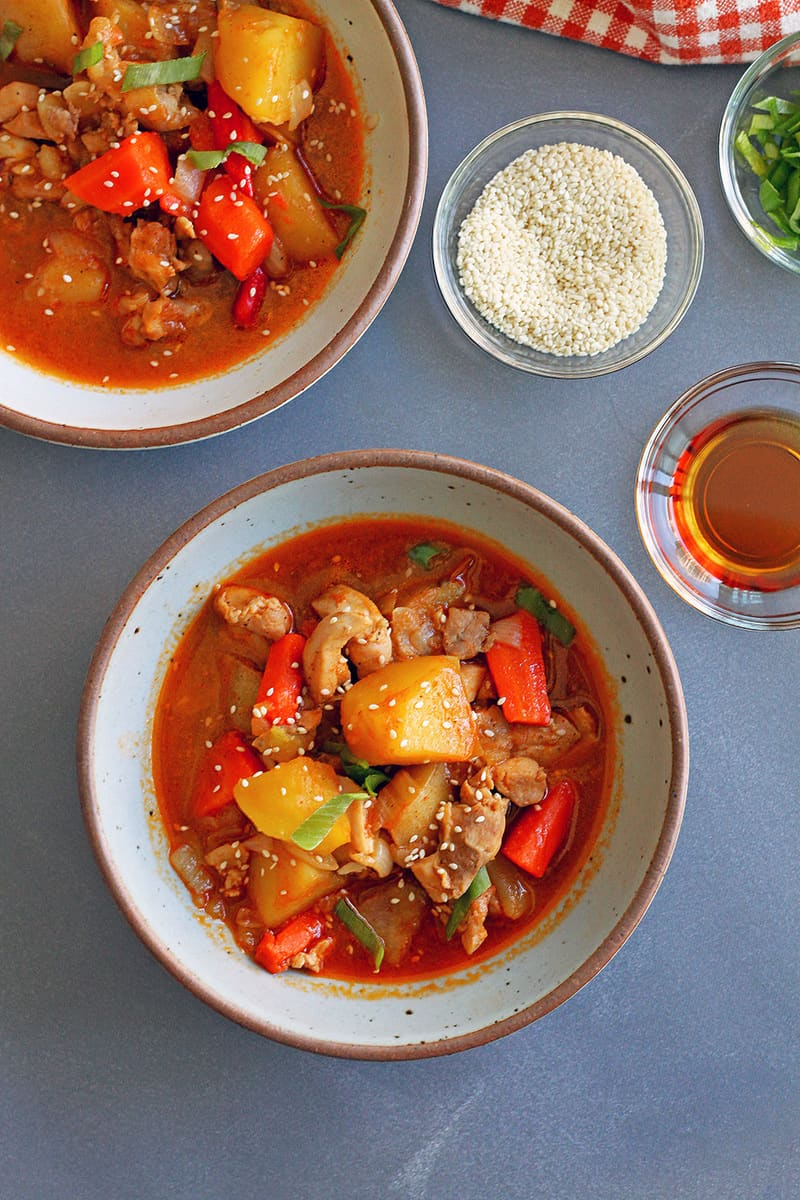 Spicy Korean Chicken Stew