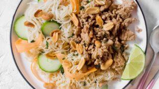 Thai Noodle Salad with Pork