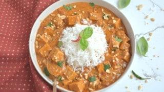 Easy Instant Pot Thai Peanut Curry Tofu & Rice (PIP)
