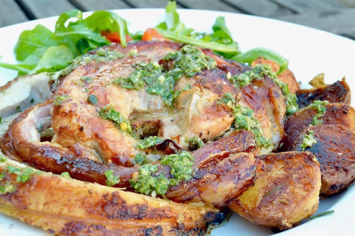 Crispy Pork Belly Wrapped Roast