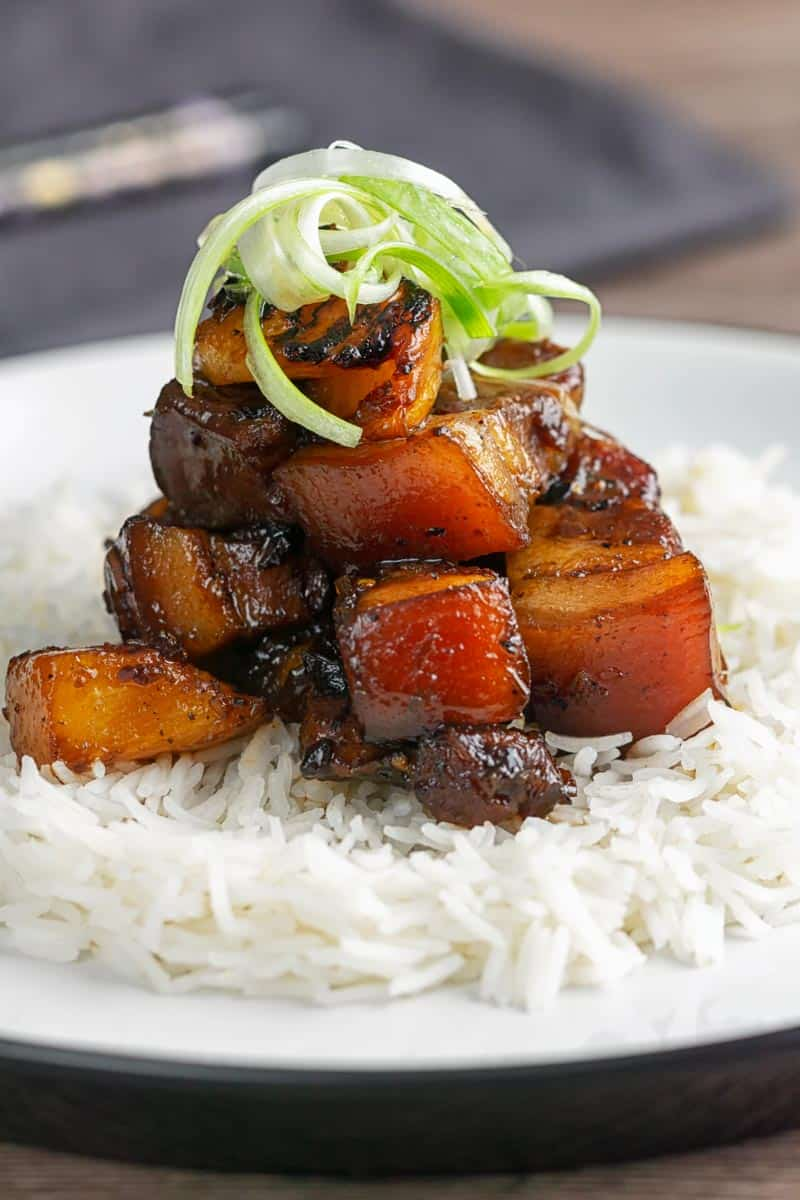 Sticky Pork Belly with Pineapple and Soy Sauce