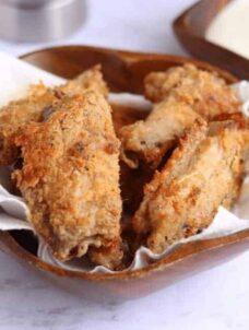 Air Fryer Chicken Wings | Breaded Hot Wings Recipe